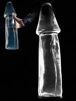 Dark Crystal Clear X-Large Dildo DCC31